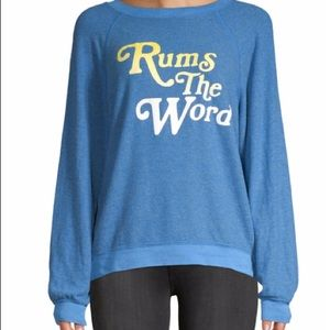 Brand New Wildfox Rums the Word Pullover/Sweatshrt